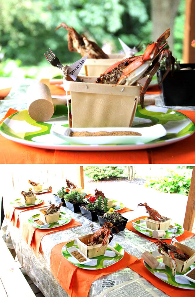 Father's Day Crab Feast Party Feature | blog Love The Day