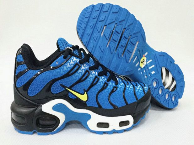 12096c51bc Men Nike Air Max Plus Tn Ultra Sapphire Yellow Black White Shoe ...
