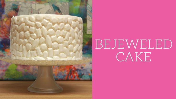Bejewelled cake how to cake tutorial.. great for wedding cake.
