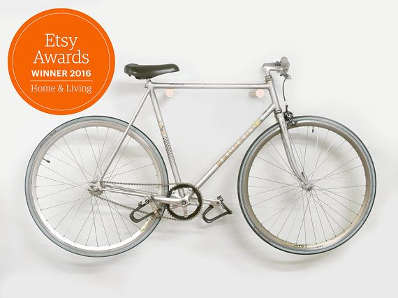 Ash wood bike rack/Bike hanger/Bicycle storage/Bike holder/Bike Mount/Bike Stand/Minimalist/Wood/Bike hook/Wall/Indoor/Interior design/Gift