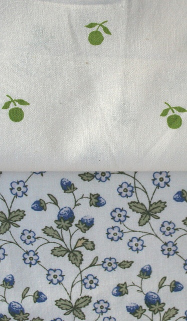 Vintage Laura Ashley Fabrics by janeych, via Flickr. Juniper and Strawberry Fields