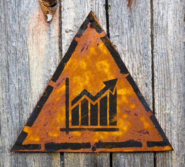 growth chart icon on rusty warning sign die ganze wahrheit