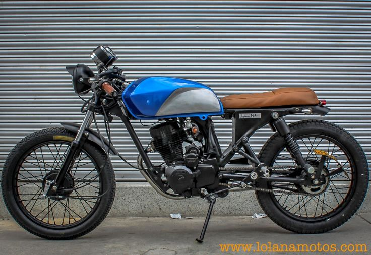 little, Blue Cafe Racer