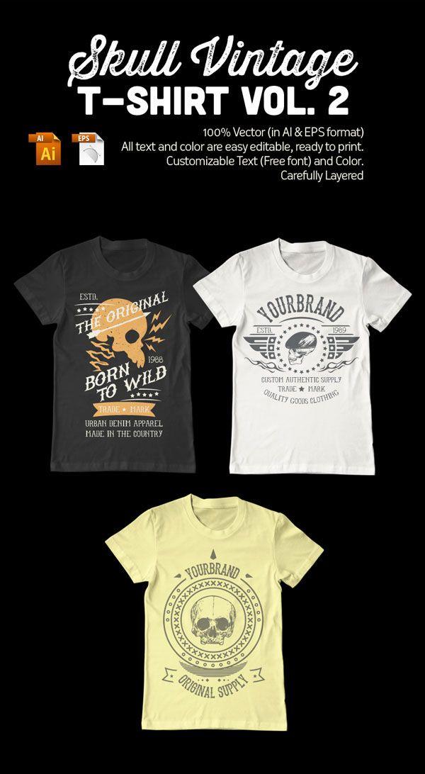 Vintage T-Shirt Design Template by TIAR PRAYOGA, via Behance