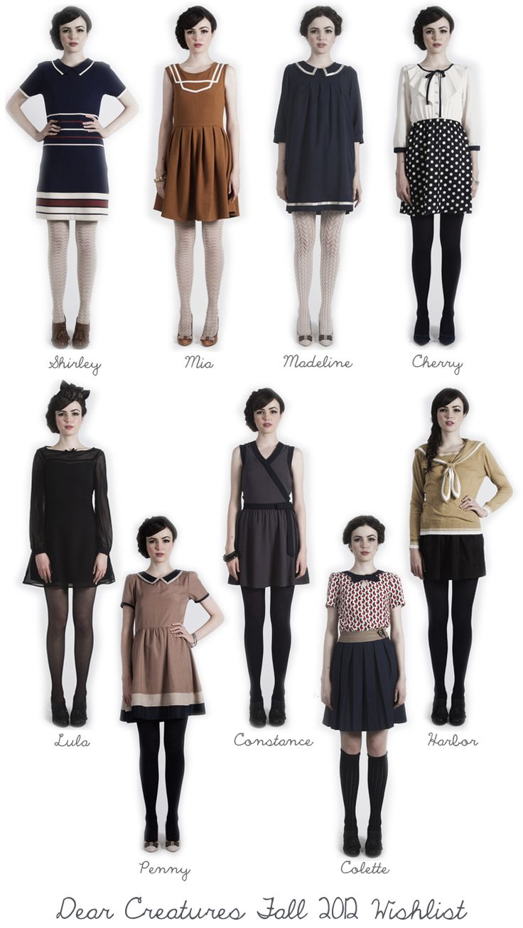 The new Dear Creatures Fall 2012. I want them. All of them.