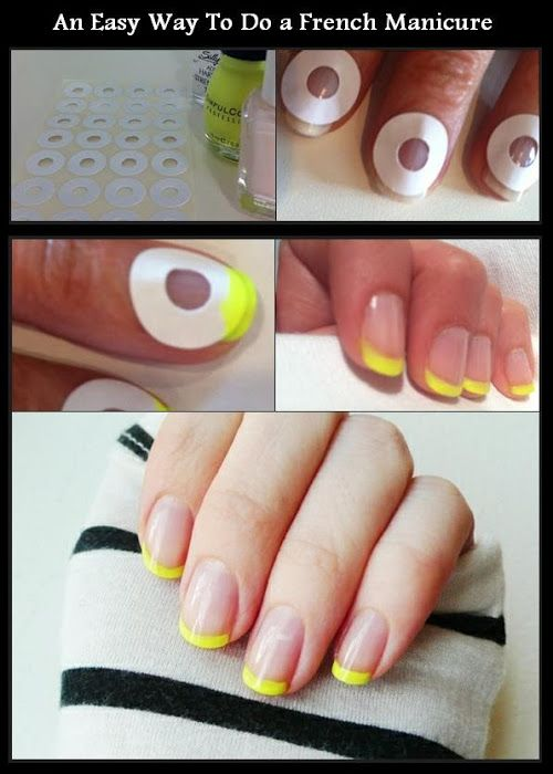 An Easy Way To Do a French Manicure