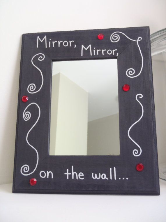 I need this! too cute! Inspirational Quote Mirror Snow White by LisaMRadDesigns on Etsy
