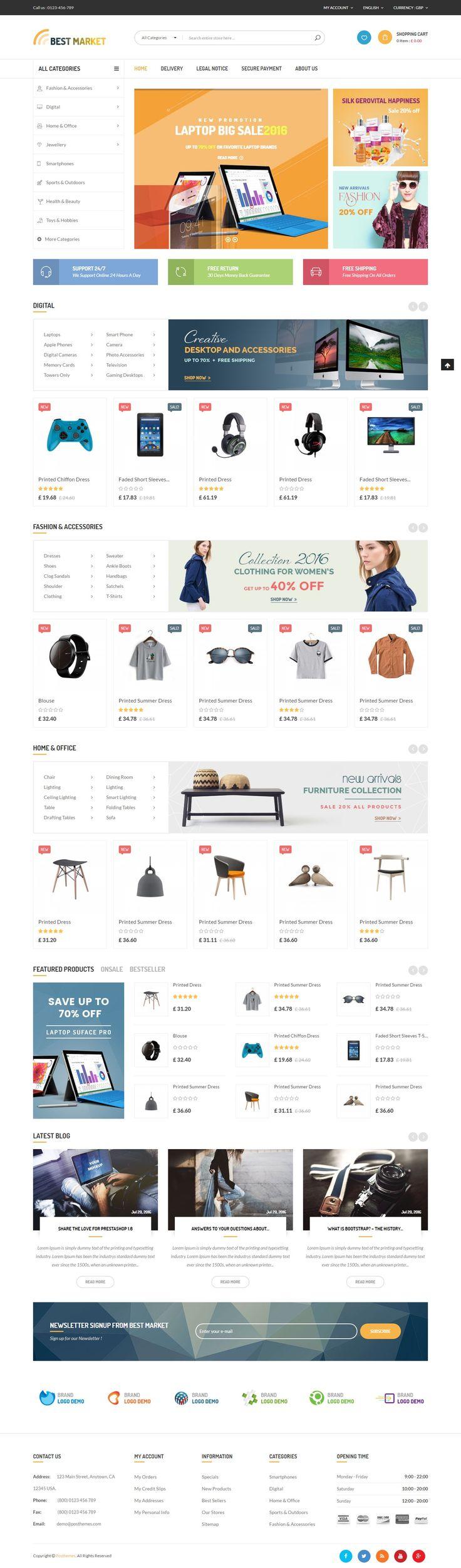 [YesThemes.net] - Free download BestMarket - Multipurpose Mega Shop Responsive Prestashop Theme