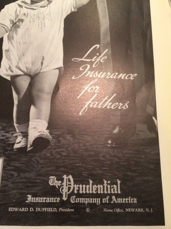 Prudential Insurance Company Of America Print Ad Baby And Father