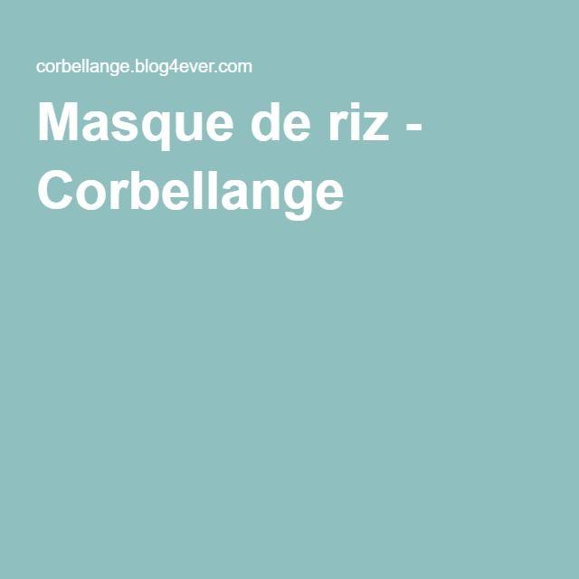 Masque de riz - Corbellange