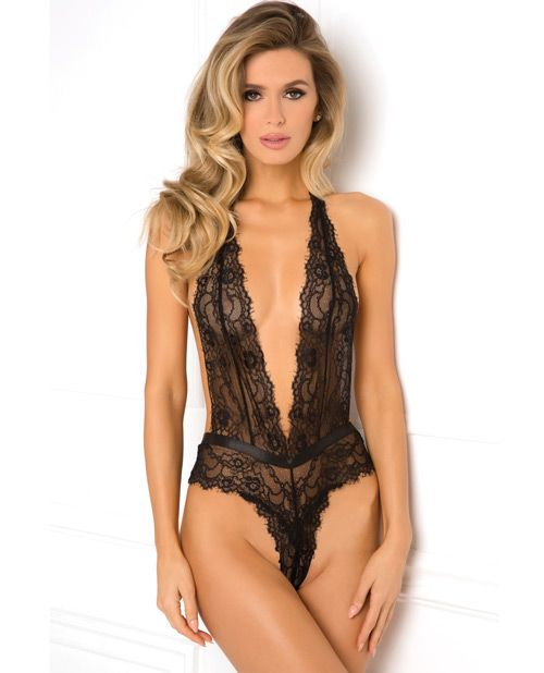 76458029dd  3 Rene Rofe Plunge In Teddy Black S-m ( 16.95)  3 - Make it a night to  remember in this alluring lace teddy.Ultra-sheer lace seamed wire-free cups  offer an ...
