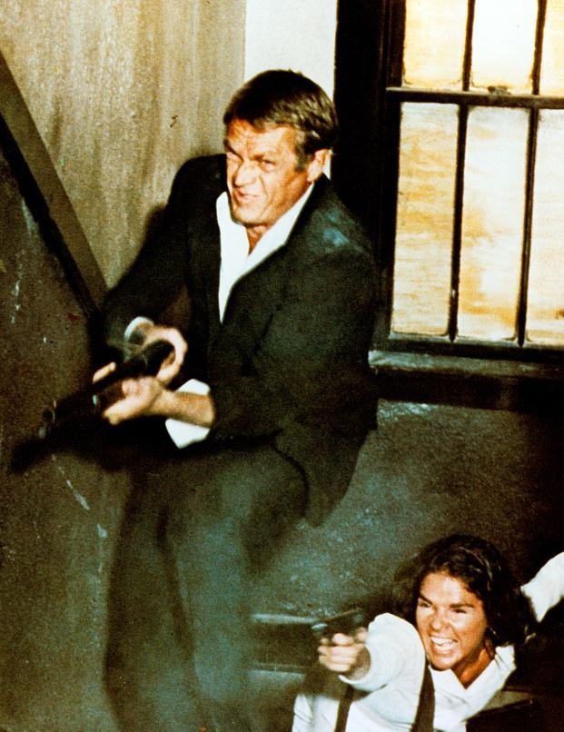 "A scene from the 1972 Sam Peckinpah classic ""The Getaway"" starring Steve McQueen & Ali McGraw."