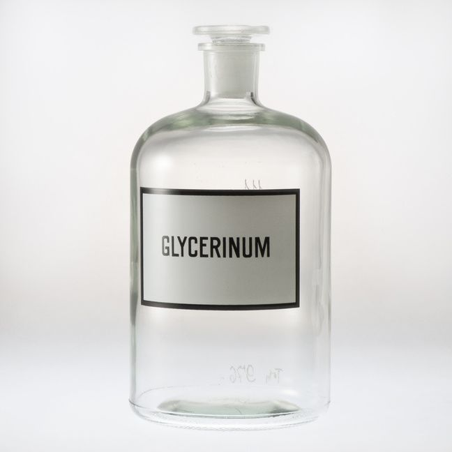 Glass bottle for chemicals. Completely new, never used. More pieces available with differnt signs.