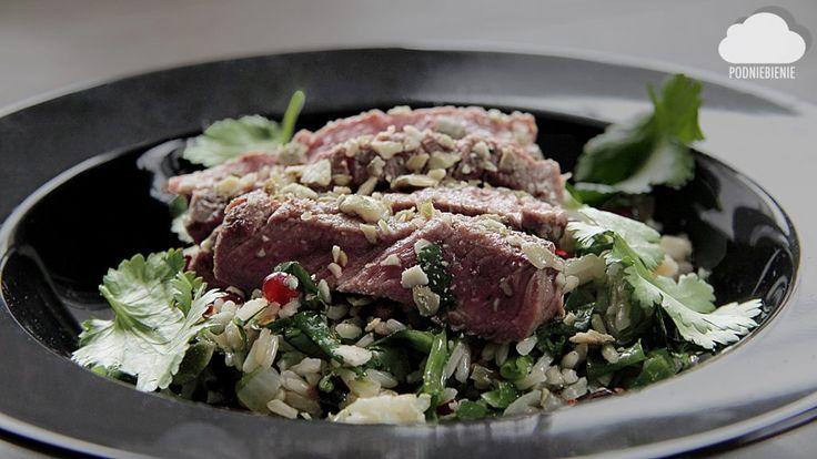 STEK I ZIOŁOWA TABULA – PodNiebienie STEK I TABULA ZIOŁOWA🍃🍚 #stek #steki #tabula #PodNiebienie #steak #tabbouleh #kolendra #cilantro