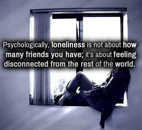 escaping the feeling of loneliness in todays world Dealing with loneliness how do people cope with loneliness the the most frequent way that people coped with feelings of loneliness, as mentioned in the lonely individuals describe being able to pull into themselves, to escape from the present world, to go to a fantasy world, a.