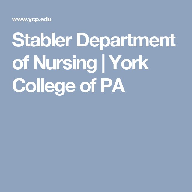 Stabler Department of Nursing | York College of PA