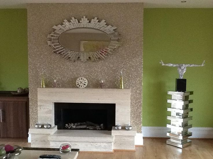 Sand Glitter Wallpaper On A Chimney Breast What Is Your Favorite Shade Of Go