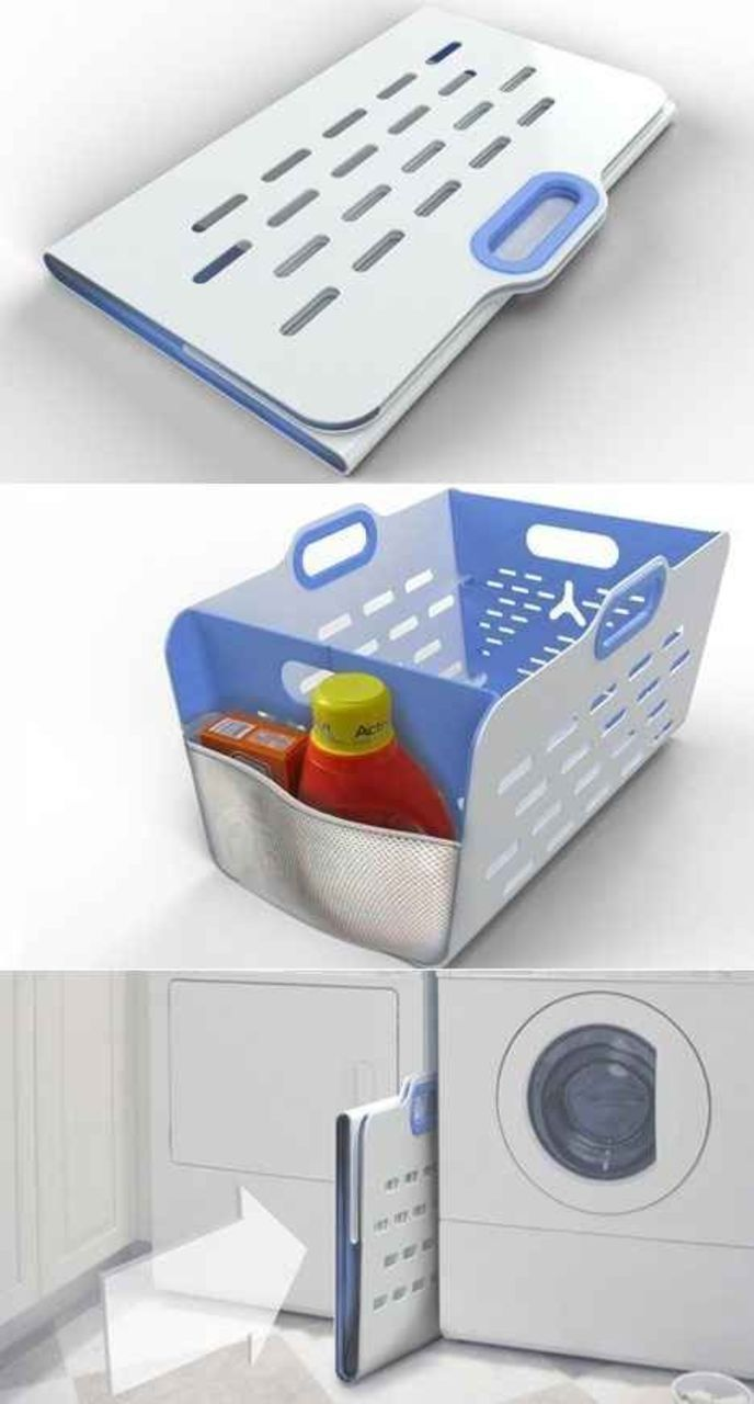 Omg! I was just telling my hubby I needed to invent something like this! HATE that my laundry baskets take up so much space in the laundry room. Looks like someone beat me to the punch! Oh well...I'm grateful anyway! #spacesaver #laundryorganization