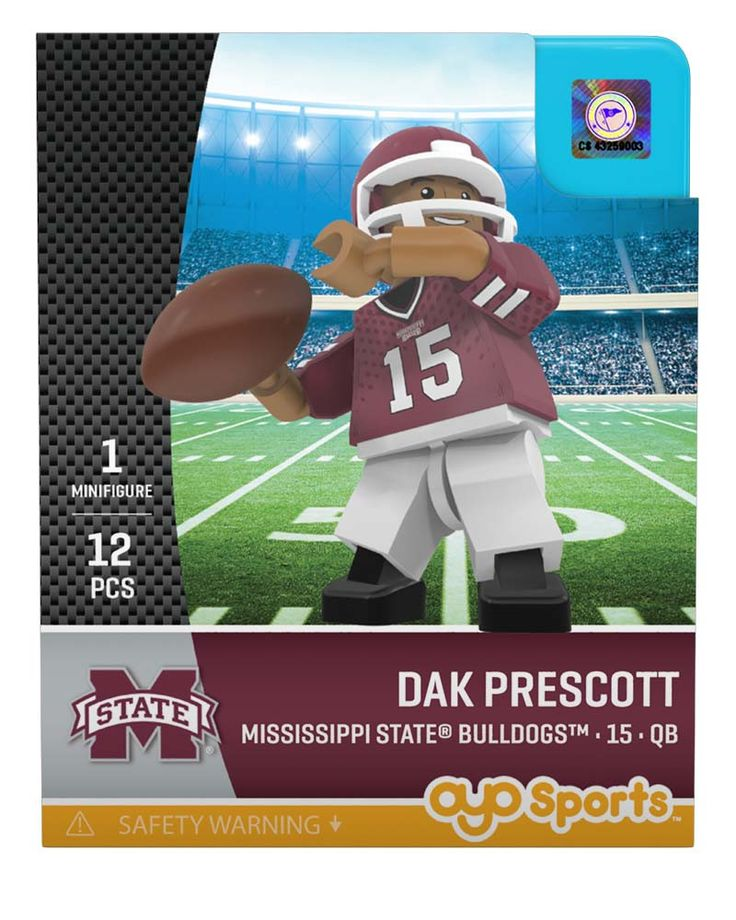 Mississippi State® Bulldogs™ DAK PRESCOTT College Legend Limited Edition OYO Minifigure