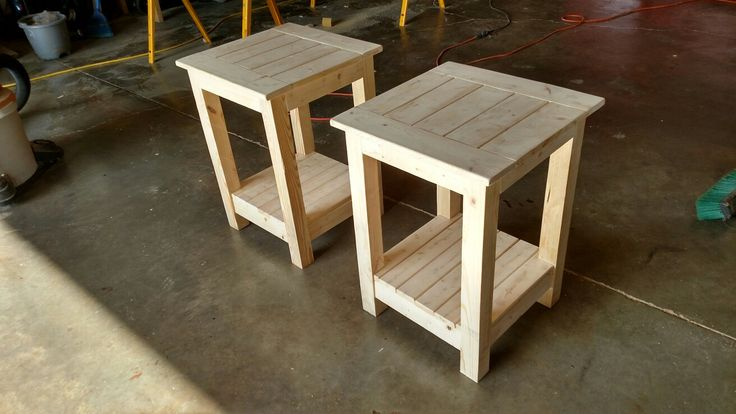 Couple of side tables to match the coffee table.