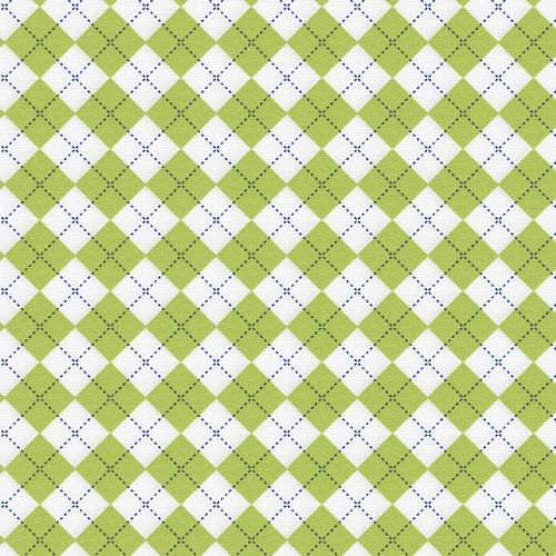 Lime and Navy Argyle Fabric by the Yard   Carousel Designs 500x500 image