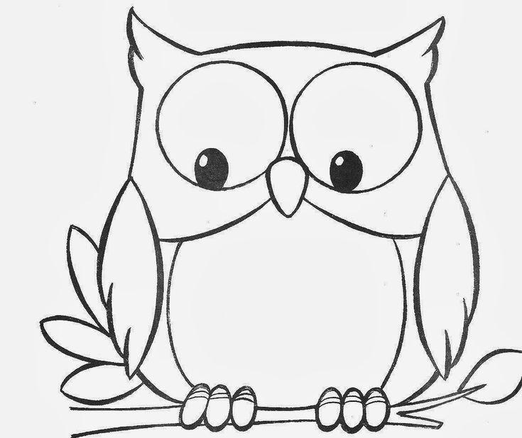 Desenhos para Pintar: Desenhos de Corujas para Colorir
