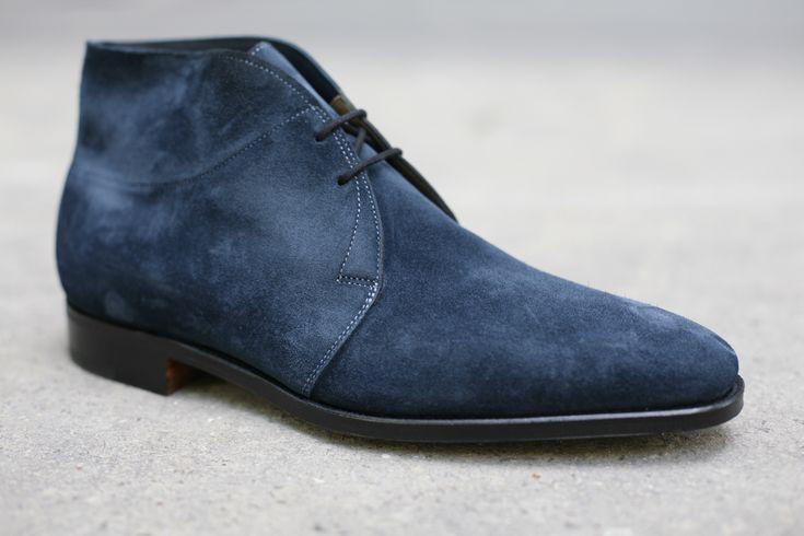 John Lobb Shoes >> John Lobb chukka boots. Deep blue cashmere suede. | Shoes ...