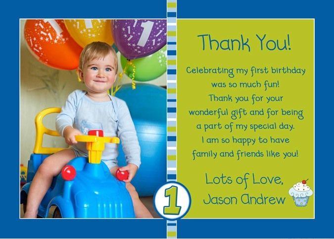 Lilduckduck Com Wp Content Uploads 2015 06 Photo Cupcake Boy Blue Lime Green Thank You L Jp Baby Boy First Birthday Boy First Birthday Birthday Thank You Cards