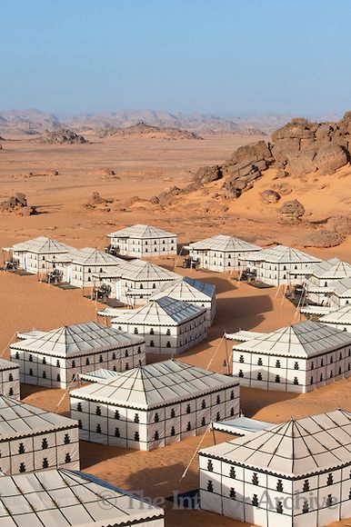 luxury tents, Ubari Desert, Libya