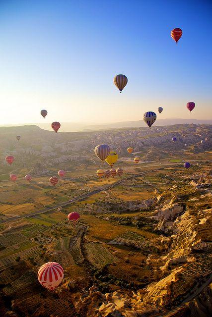 Paseo en globo por Cappadocia en Turquía. #Sueño #Viajes #Destinos