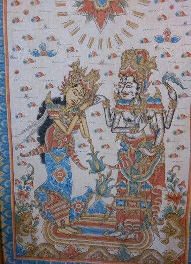 Kamasan painting Bali #traditionalartbali  www.kulukgallery.com