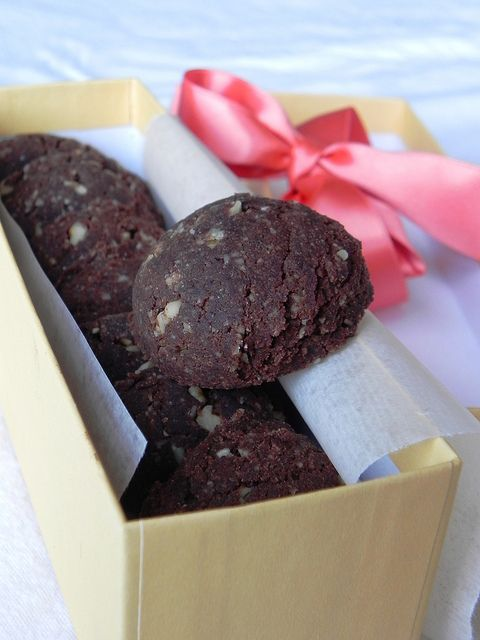 Chocolate Walnut Drop Cookies from Practically Raw Desserts by Amber Shea Crawley