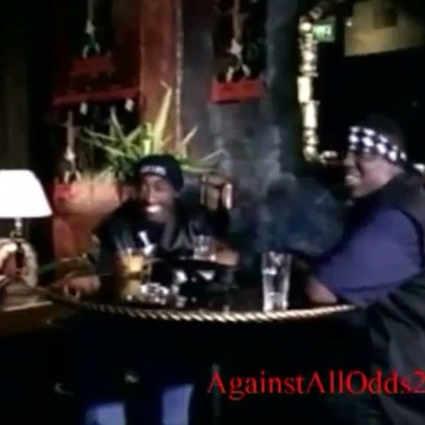 Tupac and Biggie smoking a blunt & kicking it before spitting their legendary freestyles.. Some bitches was trying to fuck with them outside of the door too. ; #tupac #2pac #tupacshakur #tupacamarushakur #2pacshakur #shakur #smile  #kingpac #tupacforever #poeticjustice #quote #2pacforever #rip #beautiful #love #king #legend #poetic #music #90smusic #90skid #rap #rapmusic #hiphop #oldschoolhiphop #dt #like #doubletap #followforfollow