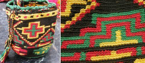 close up wayuu small mochila