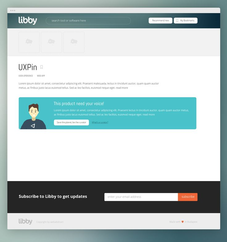 Libby - online software collection & rating web app