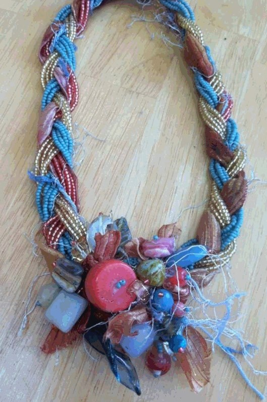 Seed Beads Coral Braided