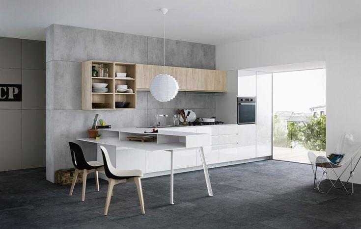 Nuova cucina MILA by Cesar: linee asciutte ed essenziali