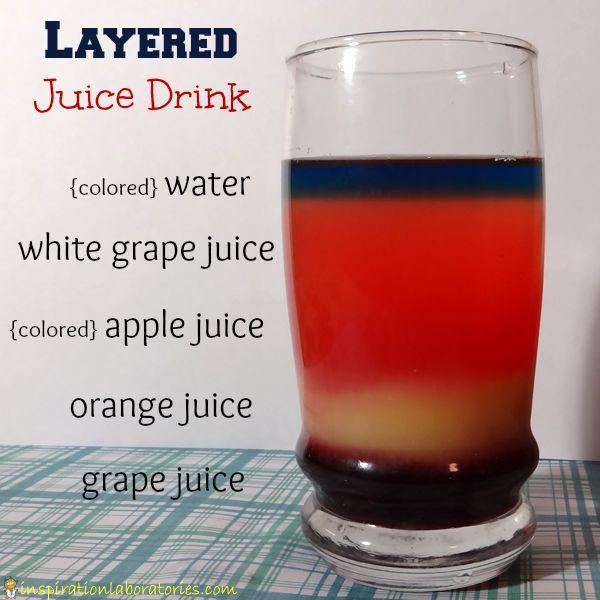 Layering Liquids Density Experiment