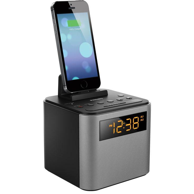 Radio-réveil Bluetooth de Philips (AJT3300/37) - Noir-argenté : Stations d'accueil et radios - Best Buy Canada