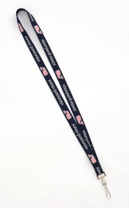 """Let them know you're going places with the Vineyard Vines Lanyard in Vineyard Navy! · 100% microweave · 5/8""""W x 36""""L * Not recommended for large remote keys."""