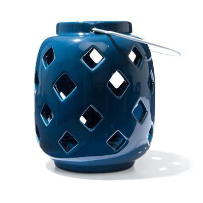 Image for Ceramic Lantern - Blue from Kmart