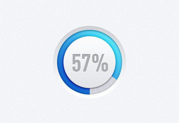 Hi-tech style circle progress bar