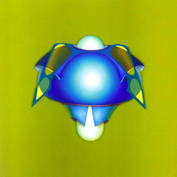 Blu Armor, 2011, olio e acrilico su tela, 60x60 cm - Ignazio Mazzeo #art #nature #colours #painting #ignaziomazzeo