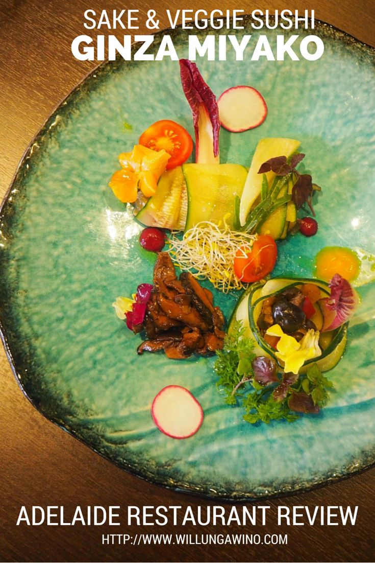 Ginza Miyako offer vegetarian Japanese cuisine, as well as all the traditional favourites