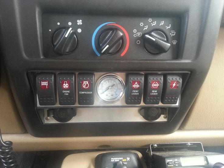 Jeep TJ switch panel. Hard to find.