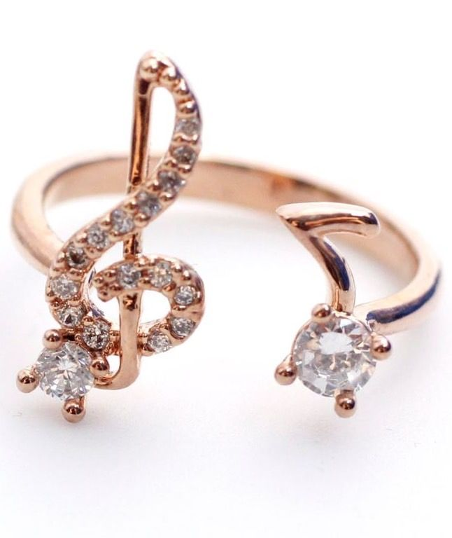 Musical Note and Treble Clef Ring