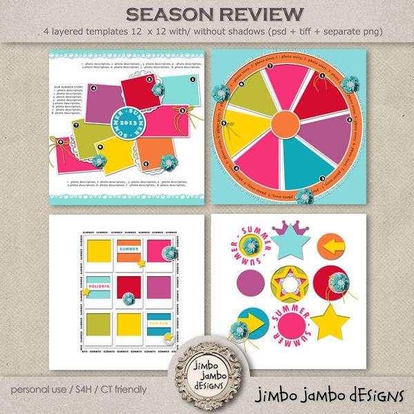 Season review :: Templates :: Memory Scraps