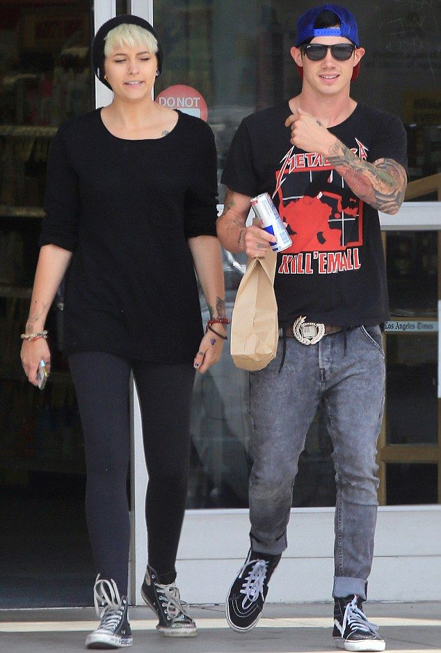 Snoddy at the seaside: Michael looked like he was having a great day out with girlfriend Paris Jackson in Venice Beach on Thursday