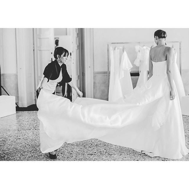 The secret of Made in Italy: the magical hands of the dressmakers #giuseppepapini #magical #bridalfashion