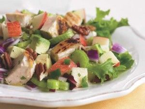 Crunchy Sweet Apple Chicken Salad  www.17daydietblog.com #17DayDiet #LowCarb